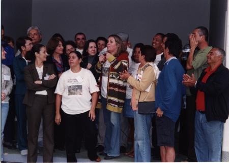 Emoção no I Encontro 2002