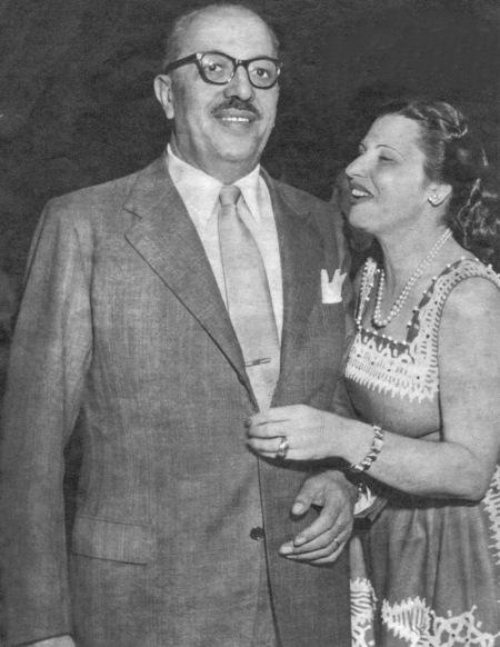 Louis Ensch e a esposa